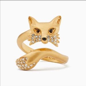 Kate Spade So Foxy Ring New Size 8 💗🦋🌺